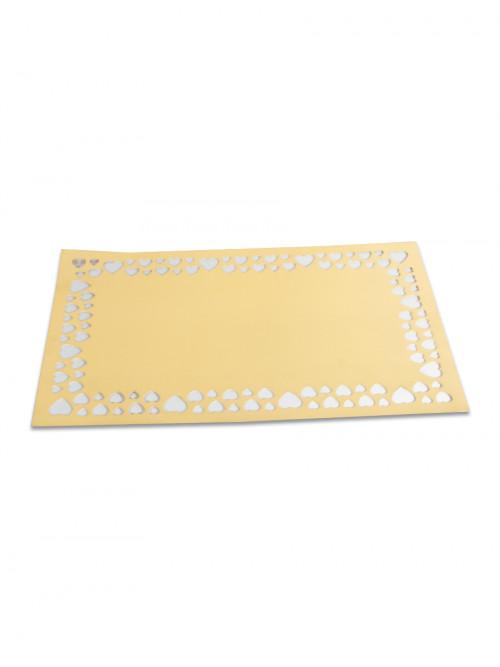 مفرش طاولة طعام ذهبي بلاستيك 45 30 سم