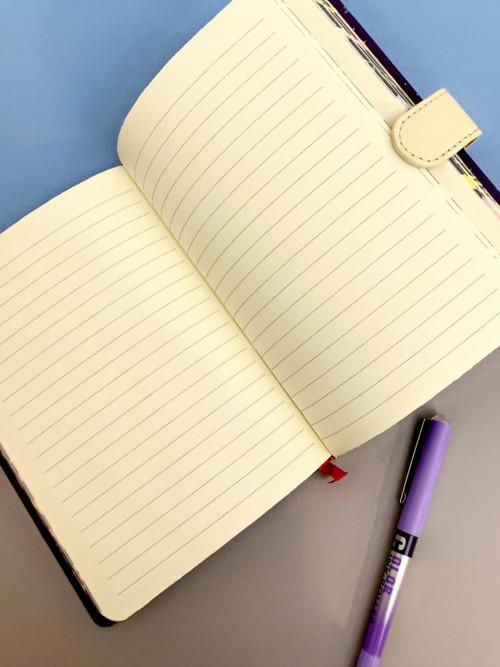 دفتر ملاحظات عربي مسطر بتصميم فريد  شخصية اليونيكورن