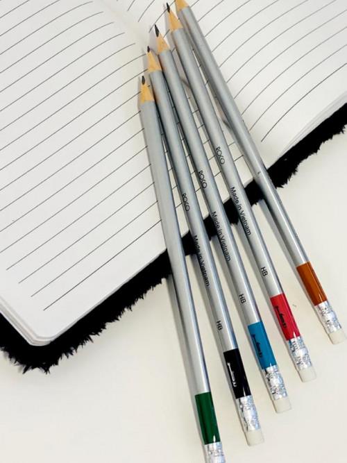 اقلام رصاص روكو  HB   لون فضي 12 قلم